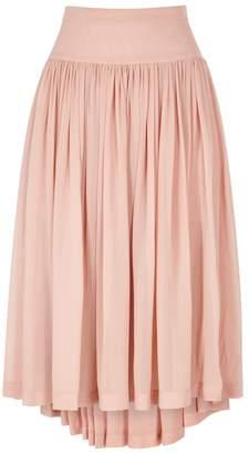 Stella McCartney Blush Silk Chiffon Skirt