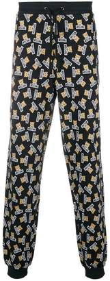 Moschino printed drawstring trousers