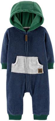 Carter's Zip-Up Hooded Fleece Jumpsuit - Baby Boy