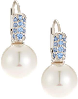 Majorica 10mm Cubic Zirconia Pearlescent Earrings