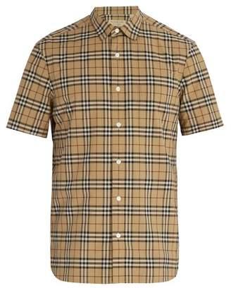 Burberry - Vintage Check Cotton Shirt - Mens - Camel