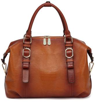 Vicenzo Leather Eternity Embossed Leather Satchel