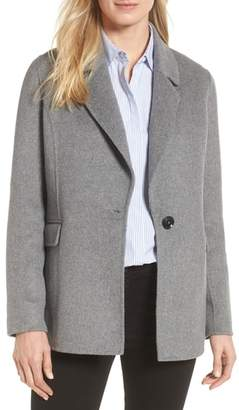 Badgley Mischka Double Face Wool Blend Blazer