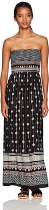 Angie Women's Smocked Strapless Maxi Dress