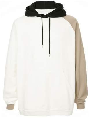 Takahiromiyashita The Soloist contrast sleeve hoodie