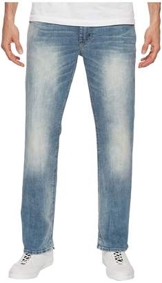 Buffalo David Bitton Driven-X Relaxed Straight Mercury in Sanded Worn Indigo Men's Jeans