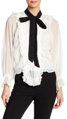 Love Place Ruffled Bell Sleeve Blouse