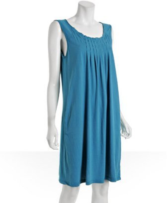 C & C California blue moon jersey pleated 'Brita' tank dress