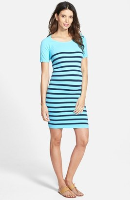 Women's Tees By Tina 'Nautical' Short Sleeve Maternity Dress $88 thestylecure.com