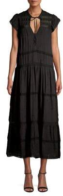 Free People Tiered Shift Midi Dress