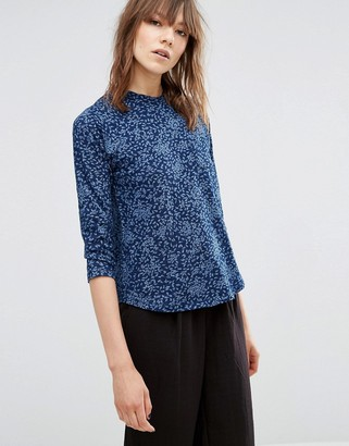YMC Brush Floral 3/4 Sleeve T-Shirt $68 thestylecure.com