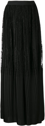 Twin-Set pleated lace palazzo trousers $274.51 thestylecure.com