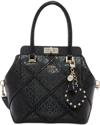 GUESS Winett Small Turnlock Satchel $110 thestylecure.com