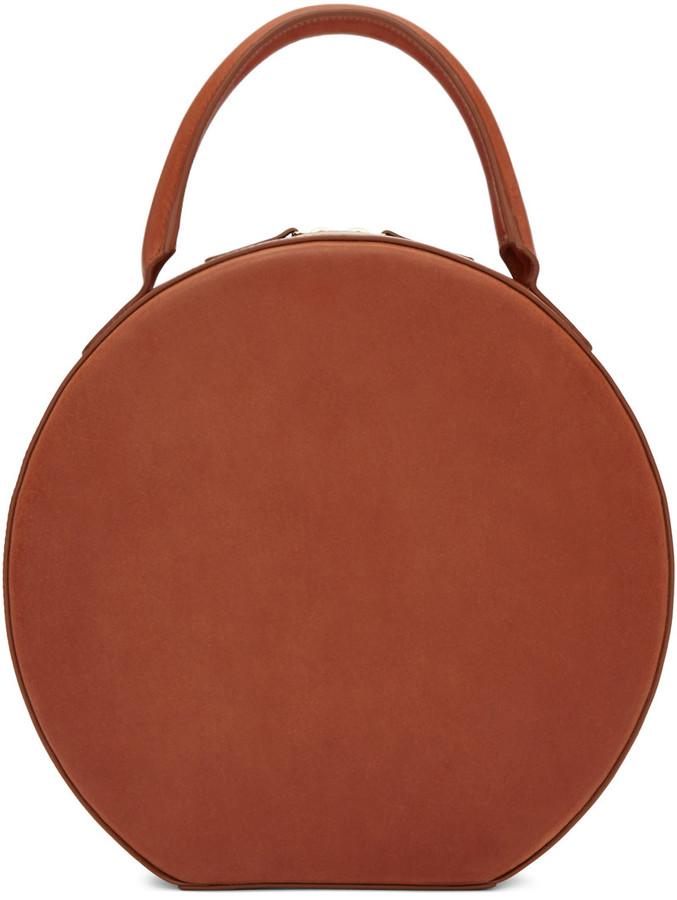 Mansur Gavriel Brown Leather Circle Bag