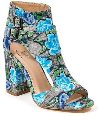 French Blu Rally Tally Floral Print Heeled Sandal
