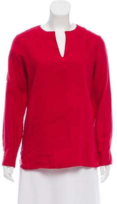 Lauren Ralph Lauren Long Sleeve V-Neck Tunic