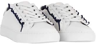 Tory Burch Ruffle White Sneaker