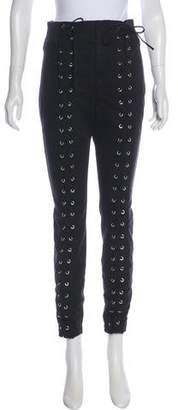 A.L.C. Lace-Up High-Rise Jeans