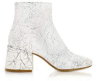 Maison Margiela White Crackled Leather Boots