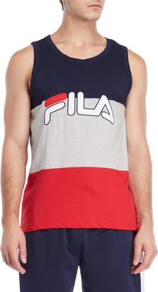 Fila Logo Pieced Color Block Tank Top