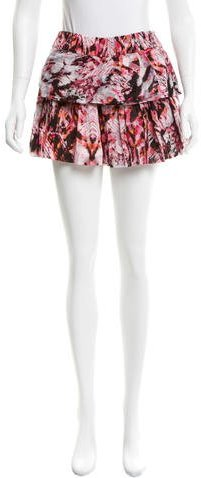 IRO Iro Tiered Tie-Dye Shorts