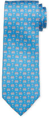 Salvatore Ferragamo Vacation-Motif Silk Tie