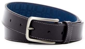 Boconi Contrast Stitched Textured Leather Belt