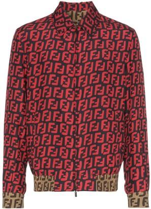 Fendi FF print zip-up shirt jacket