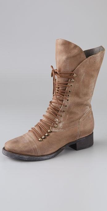 Joie Jovi Lace Up Flat Boots