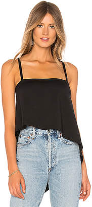 Harlow Angled Hem Top in Black. - size M (also in L,S,XS) Susana Monaco