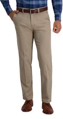 Haggar Motion Khaki Mens Straight Fit Flat Front Pant