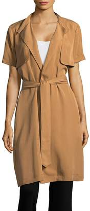 BCBGeneration Women's Short Sleeve Trench Topper