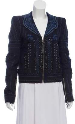 Just Cavalli Embellished Embroidered Jacket