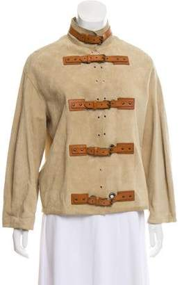 Gucci Suede Belted Jacket