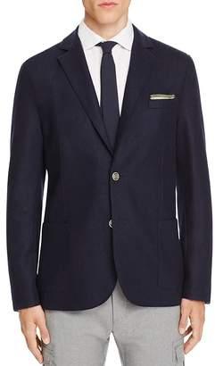 Eleventy Laser Cut Deconstructed Slim Fit Blazer $595 thestylecure.com