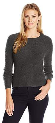 Lark & Ro Women's Cropped Crewneck Sweater