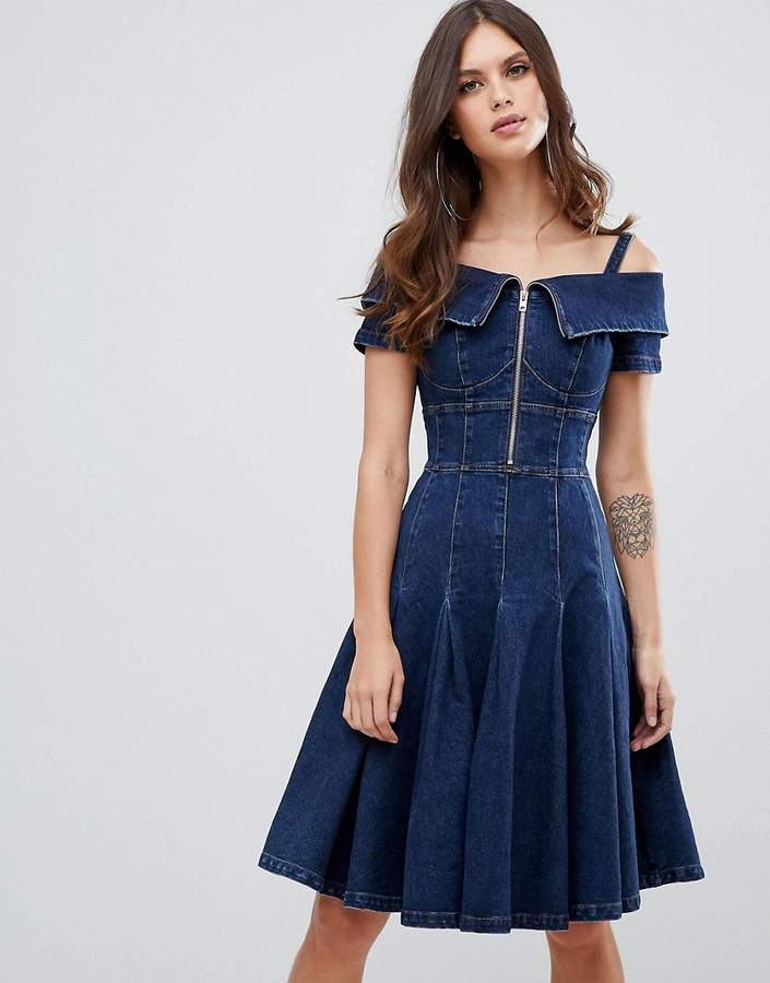 Miss Sixty flare denim dress
