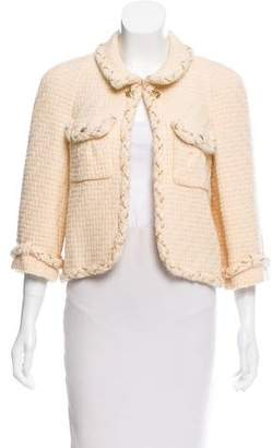 Chanel Chain-Accented Wool Jacket