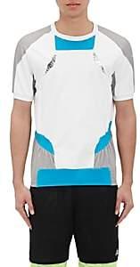 adidas x kolor X KOLOR MEN'S TECH-LAMÉ-INSET COLORBLOCKED T-SHIRT-WHITE SIZE L