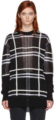 McQ Black Patched Check Sweater