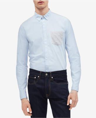 Calvin Klein Men Contrast Pocket Shirt