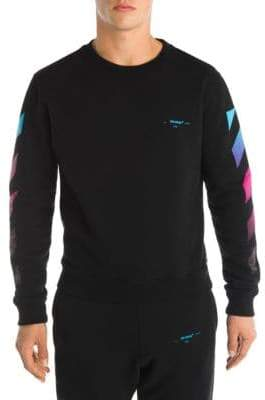 Off-White Diagonal Gradient Long Sleeve Cotton Tee