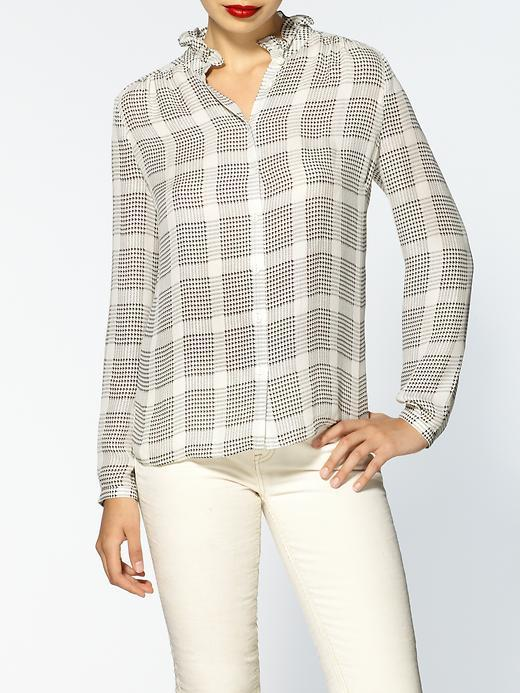 Jeunesse Deneuve Plaid Silk Blouse