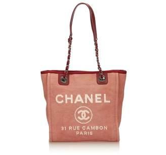Chanel Vintage Mini Deauville Tote
