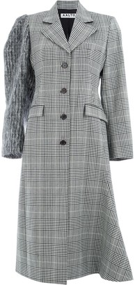 Aalto checked single-breasted coat