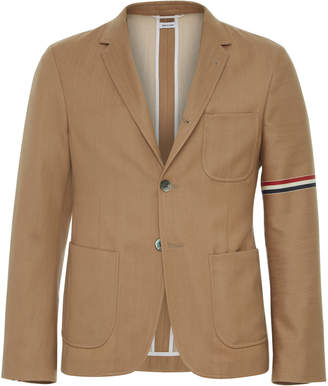 Thom Browne Wool-Cotton Khaki Sport Coat