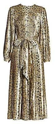 Marc Jacobs Women's Runway Leopard Lamé Midi Dress