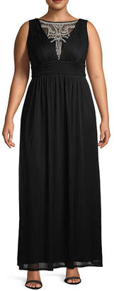 Melrose Sleeveless Embellished Evening Gown - Plus