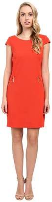 Christin Michaels Sarah Cap Sleeve Shift Dress Women's Dress