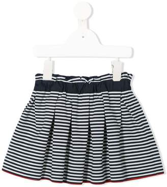 Familiar striped pleated skirt
